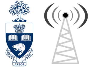 Logo with network tower